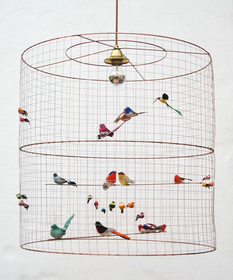 lampadari con uccellini entrophia. Black Bedroom Furniture Sets. Home Design Ideas
