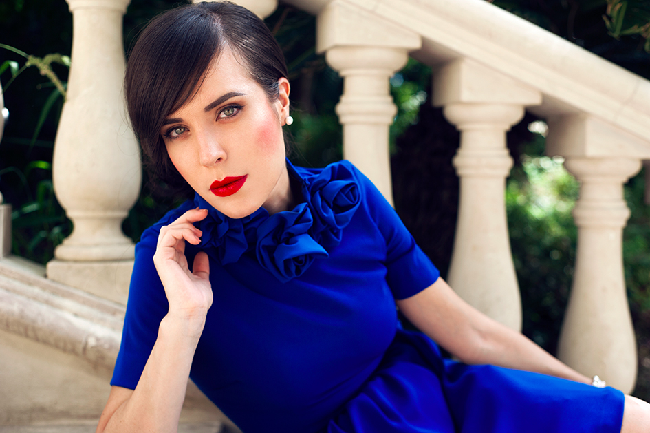 Popolare Un vestito blu con le rose sul collo: il mio #4   Entrophia DY16