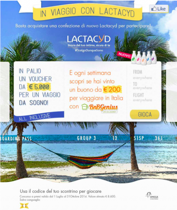 concorso in viaggio con lactacyd
